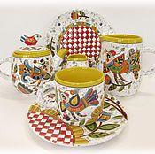 """Посуда ручной работы. Ярмарка Мастеров - ручная работа Керамический сервиз """"Весна"""". Handmade."""