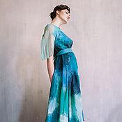 Одежда ручной работы. Ярмарка Мастеров - ручная работа Валяное платье Тетис. Handmade.