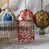 Подарки к праздникам handmade. Livemaster - original item Christmas balls beaded vintage style Winter fairy tale. Handmade.