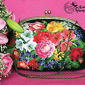 """Классическая сумка ручной работы. Ярмарка Мастеров - ручная работа Сумка """"Цветущий сад"""". Handmade."""