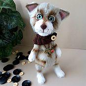 Куклы и игрушки handmade. Livemaster - original item Knitted toy cat Joseph.. Handmade.