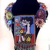 Украшения ручной работы. Ярмарка Мастеров - ручная работа Колье Жаклин с цветами. Handmade.