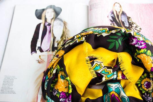 """Шали, палантины ручной работы. Ярмарка Мастеров - ручная работа. Купить Платок женский из ткани KENZO  """"Beautiful"""" темно коричневый. Handmade."""