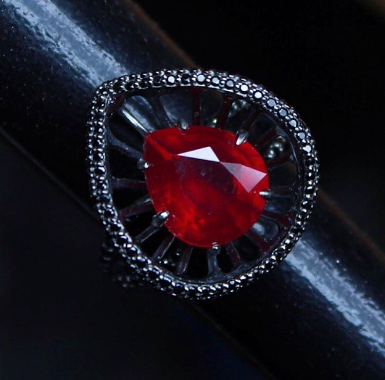 Phoenix ring with natural ruby, Rings, Moscow,  Фото №1