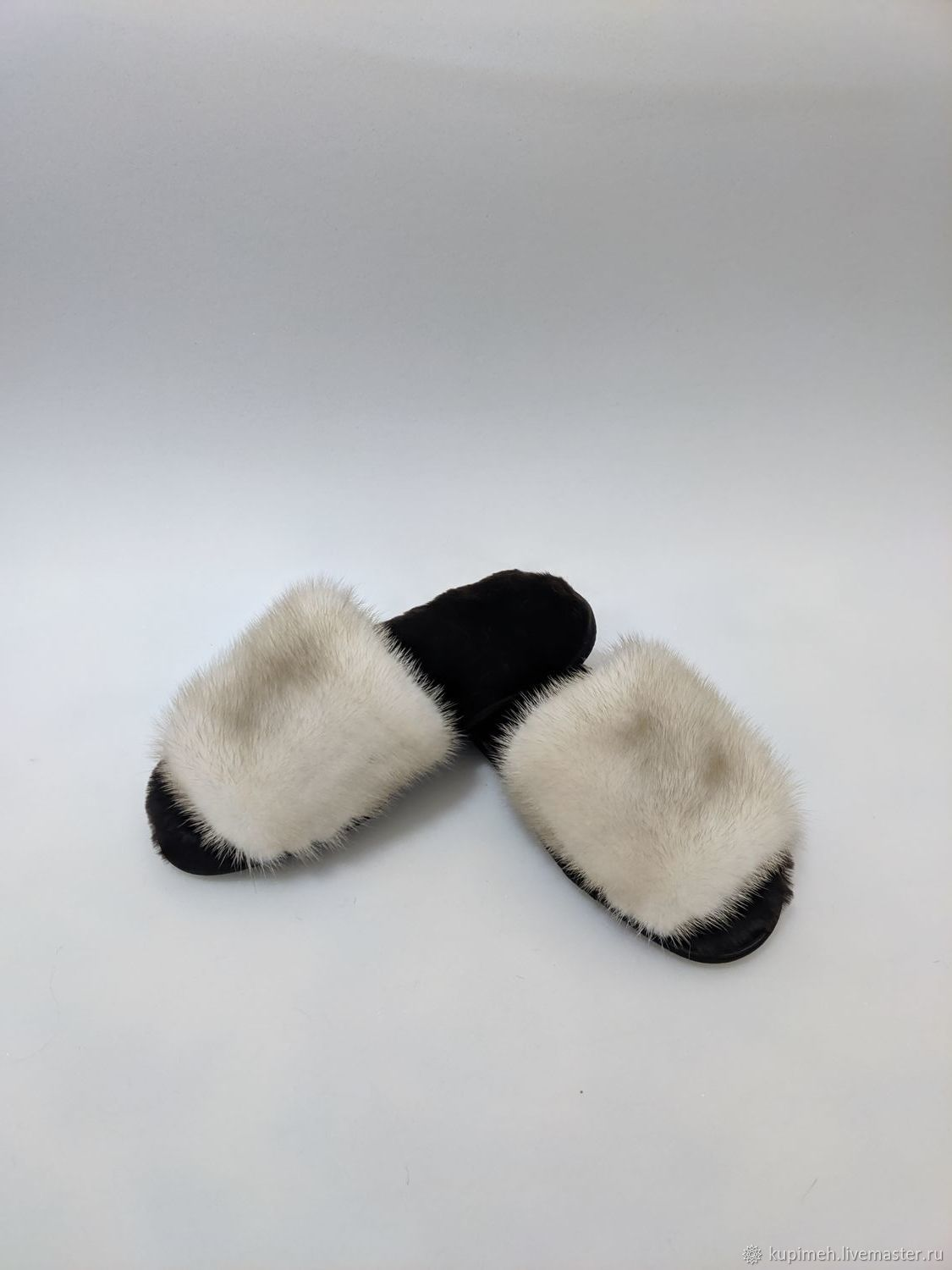 Slippers made of natural fur Mink and Sheepskin, Slippers, Nalchik,  Фото №1