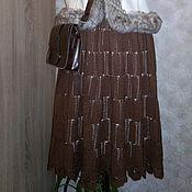 """Одежда ручной работы. Ярмарка Мастеров - ручная работа Юбка """" Шоколадное настроение"""". Handmade."""