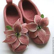 """Обувь ручной работы. Ярмарка Мастеров - ручная работа тапочки """" благоухание лилий """". Handmade."""