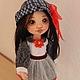 Коллекционные куклы ручной работы. Майя. Текстильная игровая кукла. Талалайко Анна. Интернет-магазин Ярмарка Мастеров. Серый
