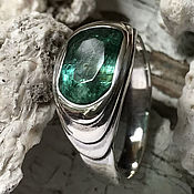Украшения handmade. Livemaster - original item Men`s ring with Emerald 2,19 ct, silver ring handmade. Handmade.