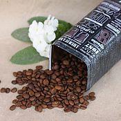 """Для дома и интерьера ручной работы. Ярмарка Мастеров - ручная работа Жестяная банка """"Black coffee""""!. Handmade."""