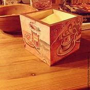 Для дома и интерьера ручной работы. Ярмарка Мастеров - ручная работа Салфетница деревянная. Handmade.