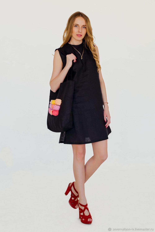 Сарафан женский Мини с сумкой лён