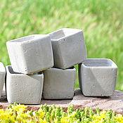 Цветы и флористика handmade. Livemaster - original item Little gorscak of concrete Cube Loft style Minimal under a cactus. Handmade.