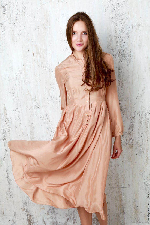 Платья рубашка шелковая