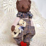 Куклы и игрушки ручной работы. Ярмарка Мастеров - ручная работа Тимофей мишка на День Влюбленных. Handmade.
