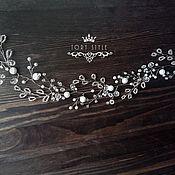 Свадебный салон handmade. Livemaster - original item Tiara, twig, tiara in the hair, decoration on the hair wedding. Handmade.