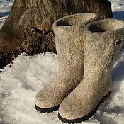 """Обувь ручной работы. Ярмарка Мастеров - ручная работа Сапоги-валенки """"Зимнее утро"""". Handmade."""