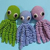 Stuffed Toys handmade. Livemaster - original item Knitted Octopussy for newborns. Octopussy.Guardian. Handmade.