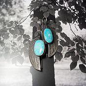Украшения handmade. Livemaster - original item Turquoise earrings