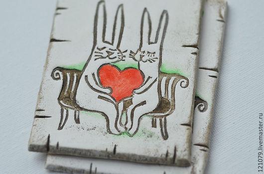 Свадебные аксессуары ручной работы. Ярмарка Мастеров - ручная работа. Купить Влюблённые зайцы. Handmade. Белый, приглашения ручной работы