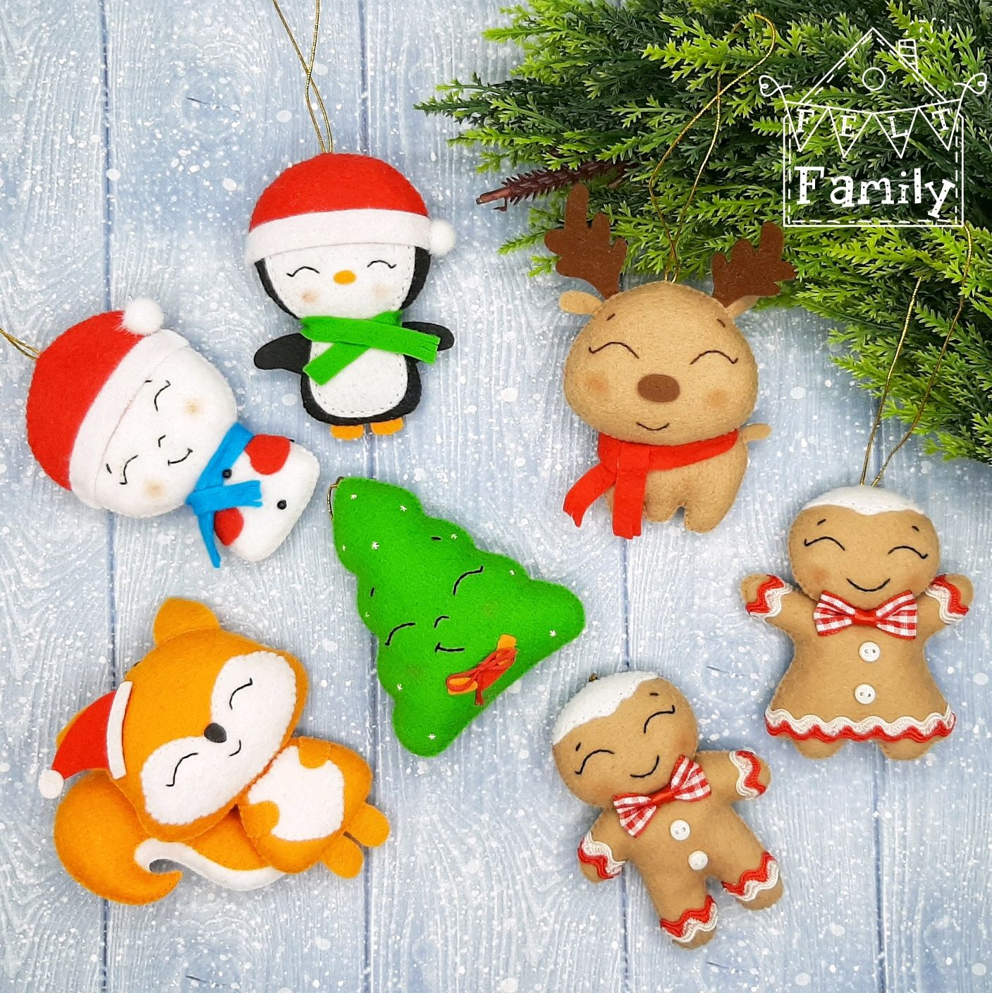 Christmas decorations out of felt. Collection 'Winter's tale', Christmas decorations, Chekhov,  Фото №1