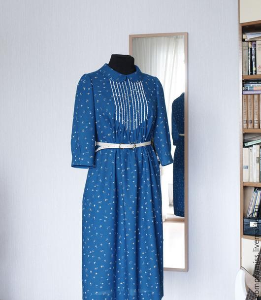 """Платья ручной работы. Ярмарка Мастеров - ручная работа. Купить Платье """"Винтаж"""". Handmade. Морская волна, одежда для женщин, шерсть"""