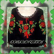 Одежда handmade. Livemaster - original item Tunic Roses. Handmade.