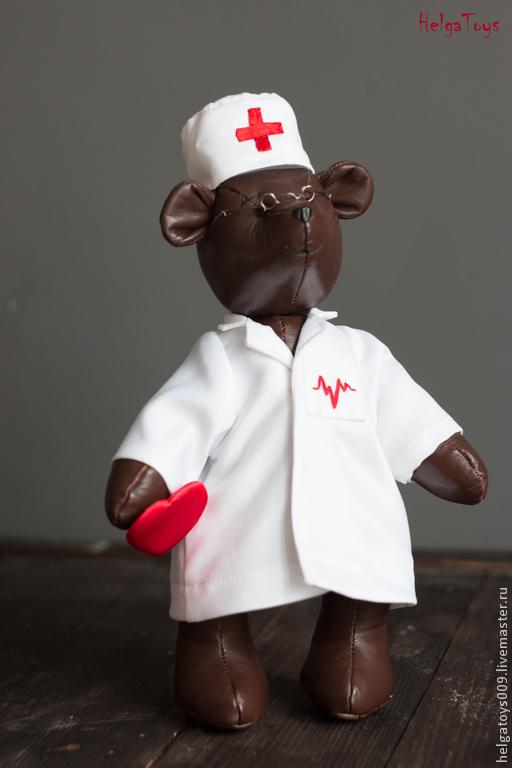 """Мишки Тедди ручной работы. Ярмарка Мастеров - ручная работа. Купить мишка """"Врач"""". Handmade. Коричневый, мишка тедди"""