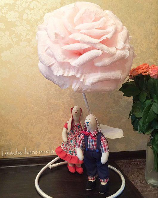 Цветы ручной работы. Ярмарка Мастеров - ручная работа. Купить Розы из гофрированной бумаги. Handmade. Гигантские цветы, розы, проволока