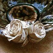 Посуда ручной работы. Ярмарка Мастеров - ручная работа Пиала Черный кофе Белый шоколад. Handmade.