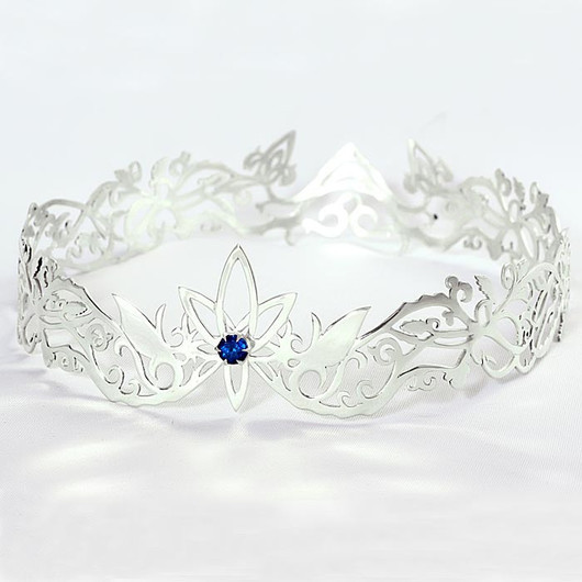 Tiaras & Headbands handmade. Livemaster - handmade. Buy Crown silver with blue spinel.The crown, silver