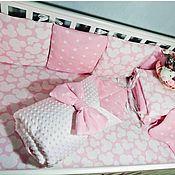 Бортики в кроватку ручной работы. Ярмарка Мастеров - ручная работа Бортики в кроватку для новорожденных! 100% хлопок!. Handmade.