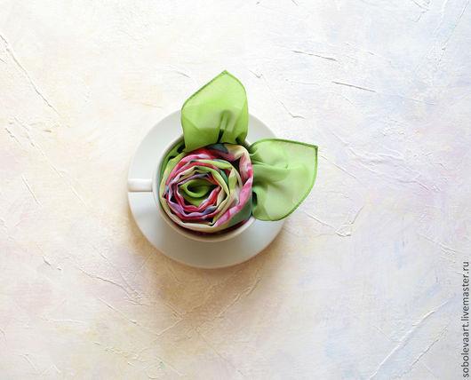 Шарфы и шарфики ручной работы. Ярмарка Мастеров - ручная работа. Купить Шарф с цветочным принтом - Шарфы - Пионы - Розовый. Handmade.