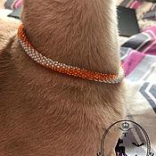"""Ошейники ручной работы. Ярмарка Мастеров - ручная работа Ошейник """"Солнечный"""" для кошки.. Handmade."""