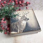Для дома и интерьера ручной работы. Ярмарка Мастеров - ручная работа Король - олень - коробочка для мелочей. Handmade.