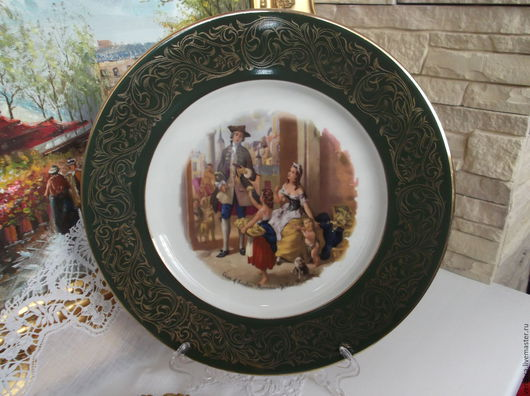 """Винтажная посуда. Ярмарка Мастеров - ручная работа. Купить Декор. тарелка.Коллекция """"Крики Лондона"""".""""Первоцветы"""" Англия. Handmade."""