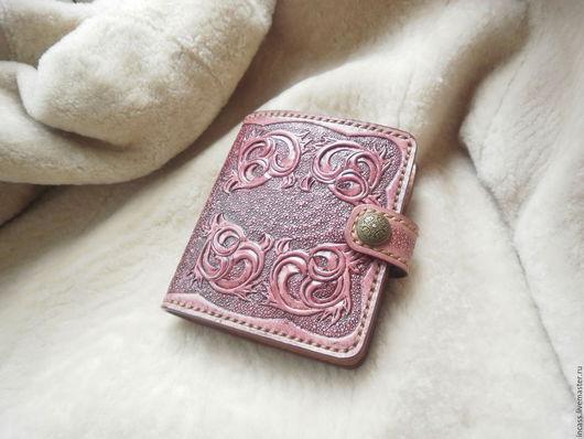 Кошельки и визитницы ручной работы. Ярмарка Мастеров - ручная работа. Купить кошелёк  женский кожаный портмоне кошелёк из кожи ручной работы. Handmade.