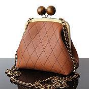 Сумки и аксессуары handmade. Livemaster - original item Bag with clasp: Small leather handbag quilted. Handmade.
