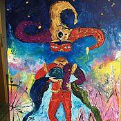 """Картины и панно ручной работы. Ярмарка Мастеров - ручная работа Картина маслом """"Шут"""". Handmade."""