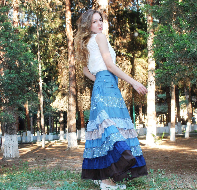 Denim boho skirt ', Adelais', Skirts, Tashkent,  Фото №1