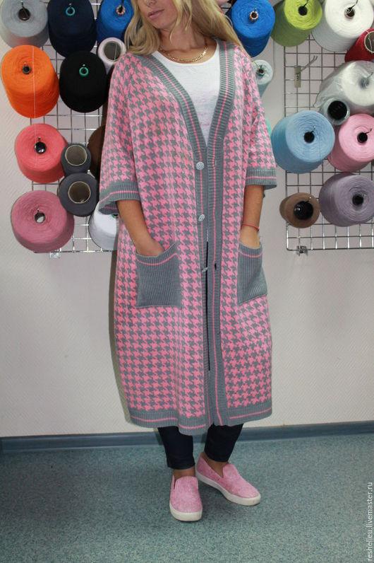 Кофты и свитера ручной работы. Ярмарка Мастеров - ручная работа. Купить Кардиган №97, вязаный из 30% итальянской шерсти. Handmade.