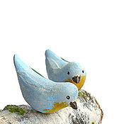 Куклы и игрушки ручной работы. Ярмарка Мастеров - ручная работа Пернатая парочка кукольная миниатюра птицы. Handmade.
