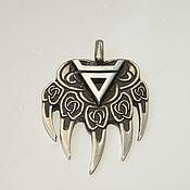 Украшения handmade. Livemaster - original item Pendant: Talisman Paw Bear, Seal Veles. Handmade.