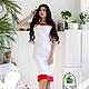 """Платья ручной работы. Ярмарка Мастеров - ручная работа. Купить Платье """"Ruby"""". Handmade. Белый, белое с красным, нарядное платье"""