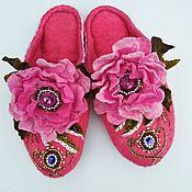 Обувь ручной работы handmade. Livemaster - original item Slippers felted pink Tenderness. Handmade.