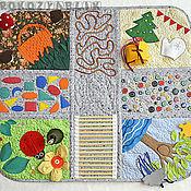 """Кукольная еда ручной работы. Ярмарка Мастеров - ручная работа """"Времена года"""" массажно-развивающий коврик. Handmade."""