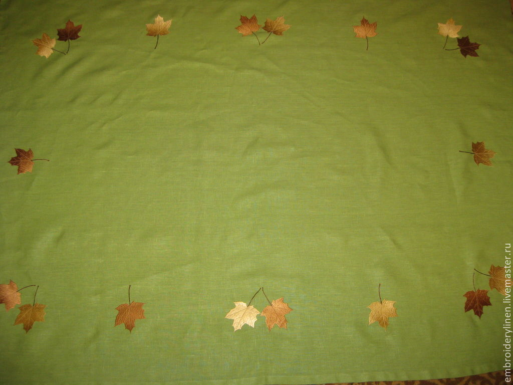 Linen tablecloth 'Autumn waltz', Tablecloths, Ramenskoye,  Фото №1