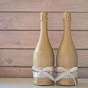 """Свадебный салон ручной работы. Ярмарка Мастеров - ручная работа Декор бутылок """"Золото счастья"""". Handmade."""