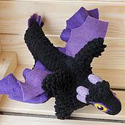 Куклы и игрушки ручной работы. Ярмарка Мастеров - ручная работа Фиолетовый и черный, валяный дракон. Handmade.