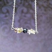 Украшения handmade. Livemaster - original item Necklace chain with diamond and garnet buy. Handmade.